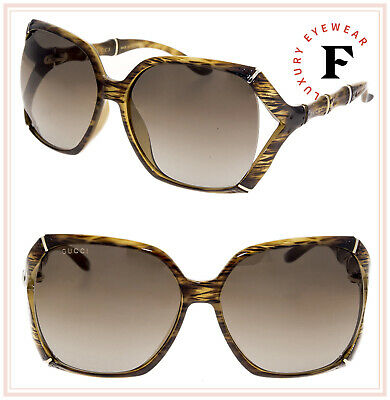 12e4af17522 Gucci Cream Bamboo Effect Oversize Square Sunglasses nextprev prevnext  Source · GUCCI BAMBOO GG3508S Translucent Brown Horn Gold Gradient  Sunglasses