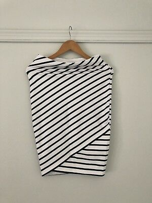 Bae The Label Ever After Maternity Skirt / White Stripe / XS