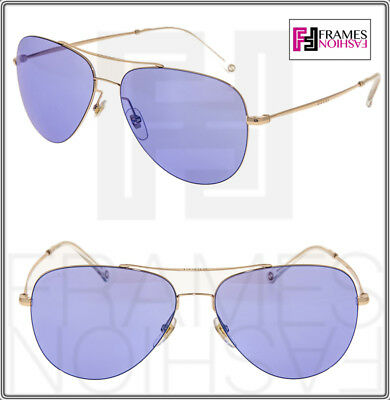 3eb78bb0e6 GUCCI TECHNO 0500 Aviator GG2245S Gold Lilac Mirrored Sunglasses Unisex 2245