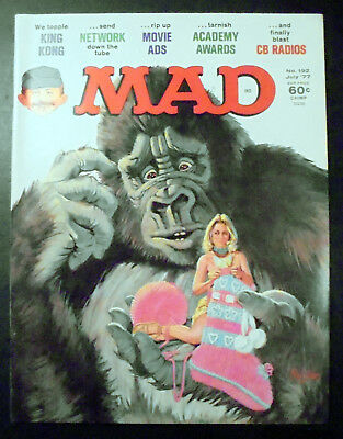 MAD Magazine #192 King Kong Cover 1977 EX