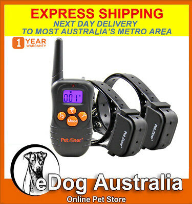 Petrainer Sound Vibration Rechargeable Dog Training Collars with Remote Control