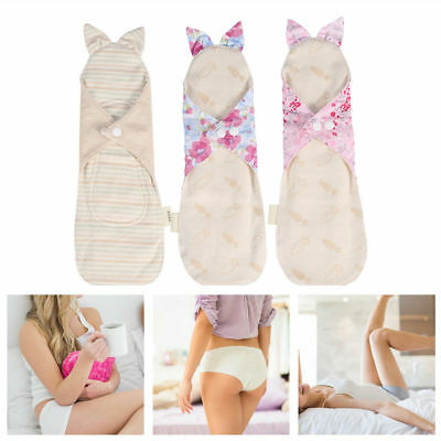 Women Cotton Menstrual Period Pads Sanitary Panty Liner Reusable Washable