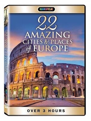 DVD, Questar, 22 Amazing Cities & places of Europe, over 3 hours, New