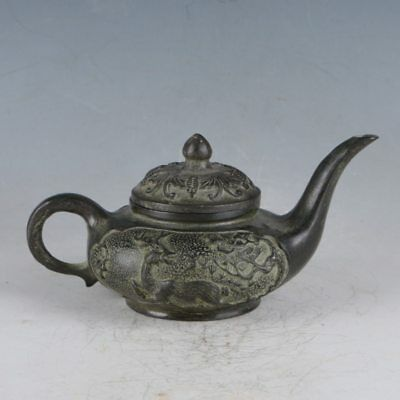 Chinese Rare Bronze Phoenix Teapot Made During The Qianlong Period HST0004+b