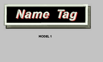 """Custom Embroidered 4"""" x 1"""" Name Patch Motorcycle Biker  Iron on/sew on Shade"""