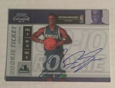 2009-10 Panini Playoff Contenders Rookie Ticket #105 Jonny Flynn AUTO Autograph