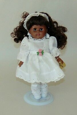 Vintage 1988 GINNY DOLL  AFRICAN AMERICAN White Eyelet