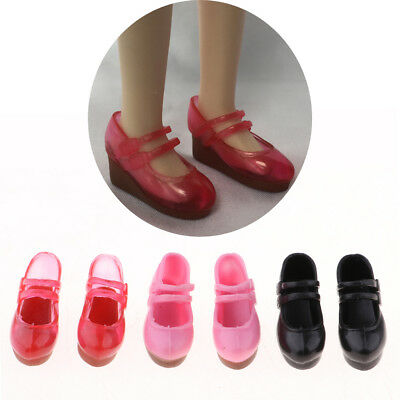 3 Pairs Single Shoes Slope Heels for 12inch Blythe Pullip 1/6 BJD MSD Doll