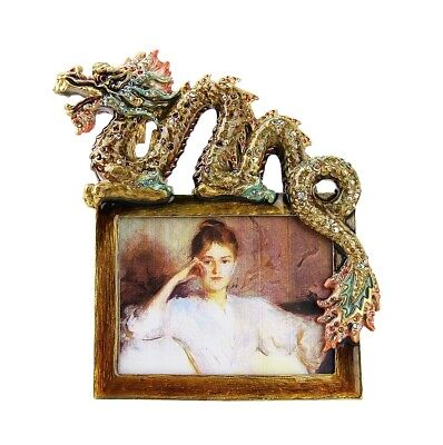 "JAY STRONGWATER UNIQUE SUPER RARE DRAGON 3""x4"" FRAME SWAROVSKI NEW USA BOX"