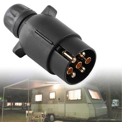 12V 7 Pin Electric Trailer Plug N-Type Plastic 7-Pole Wiring Connector Adapter h