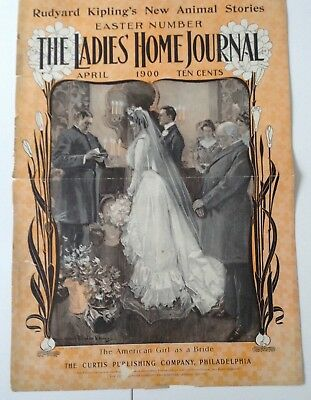 Vintage, 1900' Ladies' Home Journal Cover, Curtis Publishing, Phila.