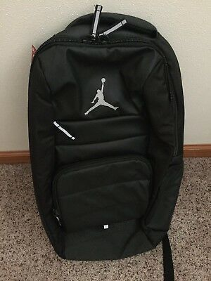 a47eb0d89a24 Nike Jordan All World Backpack Laptop Black Gray Jumpman  65 NWT 9A1640-023