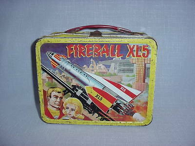 AS FOUND Vintage Fireball XL5 Metal Lunchbox~~King Seeley Co.