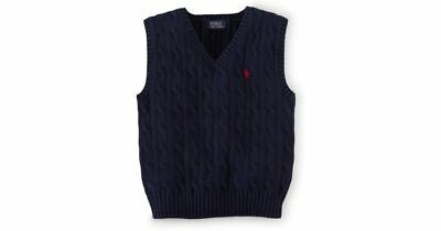 Polo Ralph Lauren Boys Size 7 Cable-Knit Cotton Vest Brand NWT