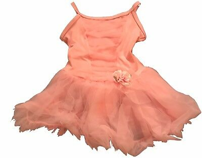 body wrappers girls pink tutu dress size 3-4 (style 2131)