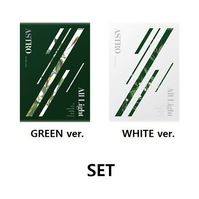 ASTRO [All Light] 1st Album 2 SET (GREEN+WHITE). CD+PhotoBook+Sticker+etc K-Pop