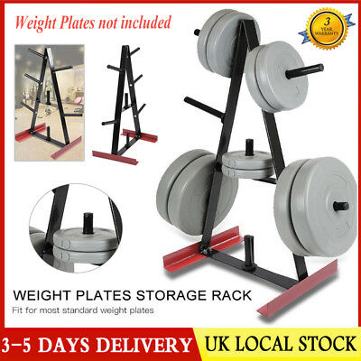 Universal Standard Weight Plate Storage Rack - 7Post Gym Stand/Tree/Holder 100KG
