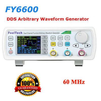 60MHz Dual-channel Arbitrary Waveform DDS function signal generator Sine Square