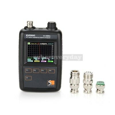 KVE60C HF Vector Color Graphic Impedance Antenna Analyzer 0.5-60MHz LCD Meter