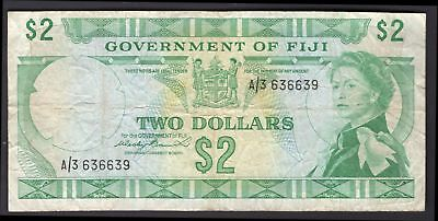 Fiji: Government Of Fiji. 2 dollars. (1971). A/3 636639. (Pick 66a). Fine.