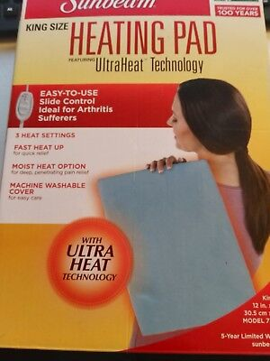 Sunbeam King-Size Electric Heating Pad with UltraHeat Technology, 3 Heat Setting