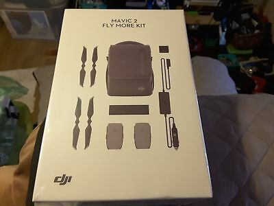 Original DJI Mavic 2 PRO & Zoom Fly More Kit with Bag Charger Battery Propeller