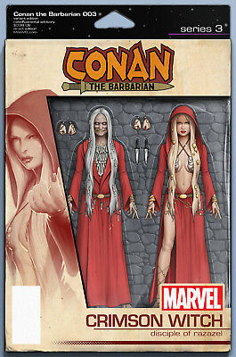 Conan The Barbarian #3 Christopher Action Figure Variant Marvel Comics Witch