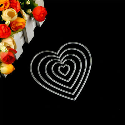 5Pcs Love Heart Design Metal Cutting Die For DIY Scrapbooking Album Paper Cards