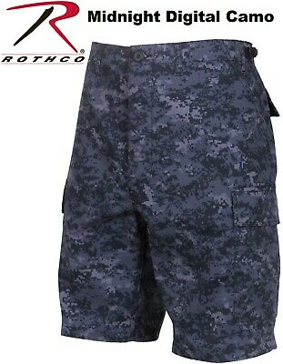 Midnight Blue Digital Camouflage Military BDU Combat Cargo Army Shorts 68213