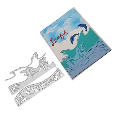 Wave Cutting Dies Stencil DIY Scrapbooking Album Paper Card Embossing Craft