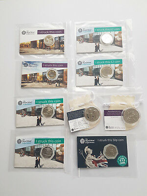 Royal Mint Strike Your Own Very Rare Full Set All The Coins With New 2019 50P