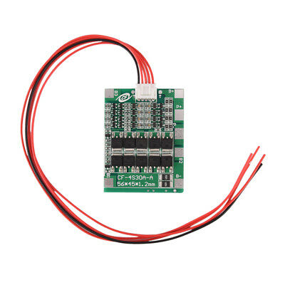 4S 30A 14.8V Li-ion Lithium 18650Battery BMS PCB  Protection Board Cell Balance