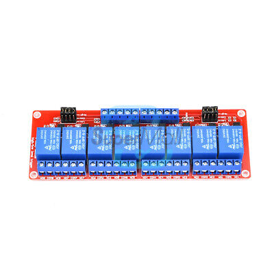 DC 24V 8 Channel with Optocoupler Isolation High/Low Level Trigger Relay Module