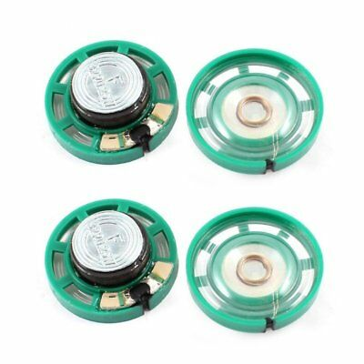0.25 W 32 Ohm Plastic 4 Magnetic Speaker with 27 mm Diameter Green + Silver C8M6