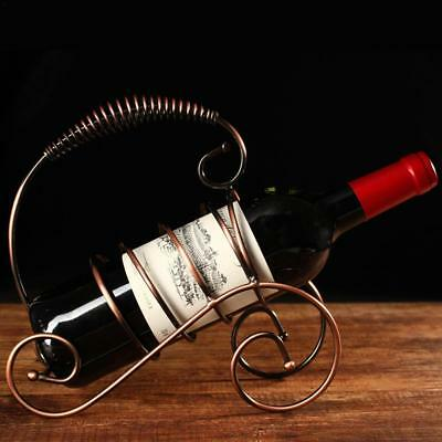 Retro Iron Red Wine Rack Stand Holder Champagne Bottle Bracket Storage Shelf
