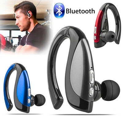 Wireless Bluetooth Noise Cancelling Trucker Headset Earpiece For Driving Black