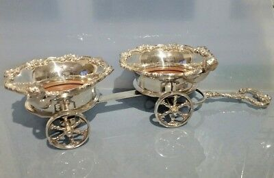Champagne or wine table double coaster on wheels with cherub figures