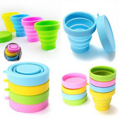 Portable Silicone Telescopic Drinking Collapsible Folding Cup Travel Camping CRI