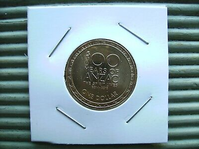 2018 $1 One Dollar Coin. 100 Years of Anzac. Rare. Mint. Uncirculated.