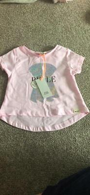 Baby Girl River Island 3-6 Months Pink Top T Shurt Baby Clothes