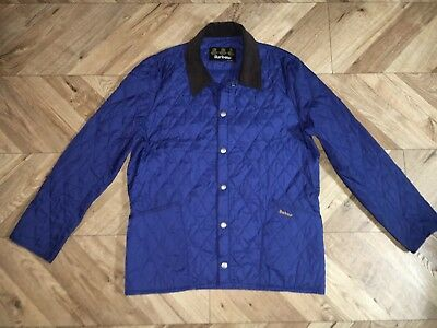 Men's Barbour lightweight liddesdale blue quilted jacket size L