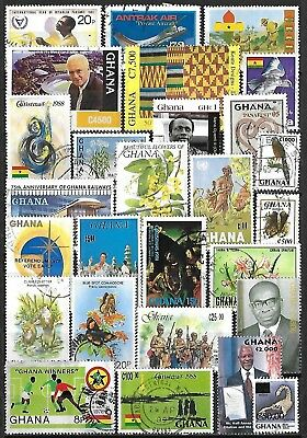 Ghana Used Selection Including Many Recent Items ~$75-90 SCV
