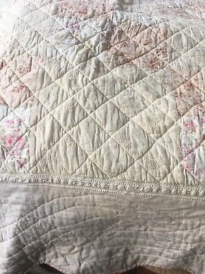 Huge Vintage Hand Made American Quilt 100 Inches X 95 Inches FABULOUS