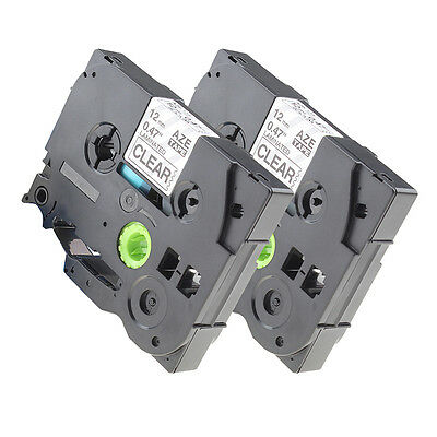 TZ-231&TZe-231 Compatible for Brother P-touch Laminated Label Tape 12mm Clear