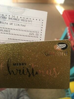 Boots Gift card £25
