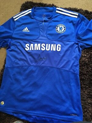 Frank Lampard Signed Chelsea Home Football Shirt 2009 10 Double Winners XL  Proof d9ceff89a