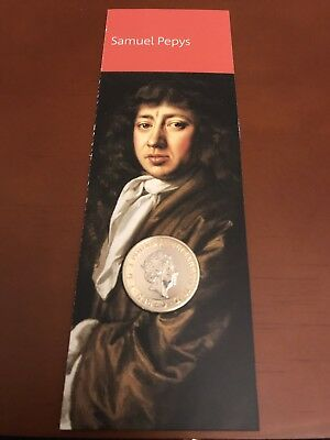 2019 UK Royal Mint Pepys Diary £2 Brilliant Uncirculated Coin Stunning Coin BU