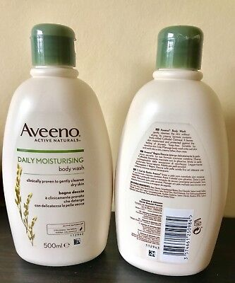 2x Aveeno Daily Moisturising & Soothing Body Wash - 500ml (1000ml in total)