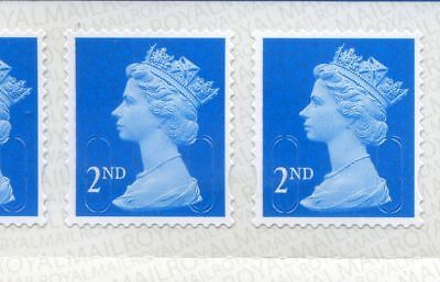 Royal Mail 2nd Class Stamps Unfranked No Gum Off Paper second class Stamps