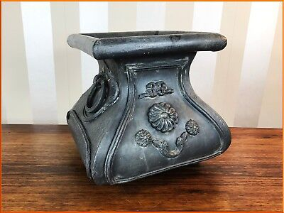 Antique Victorian Large Lead Planter Solid Handles Garden Architectural Vintage